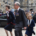 "HRH The Princess Royal enters the Memorial acccompanied by Major General Mark Strudwick the Chairman of Trustees<br/><a href=""gallery/annual-service-2016/151/add/#comments""Add comment/a"
