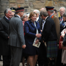"Cabinet Secretary Fiona Hyslop arrives at the Vigil<br/><a href=""gallery/battle-of-the-somme-vigil-2016/144/add/#comments""Add comment/a"
