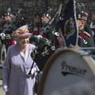 "The Queen inspects the Band of The Royal Regiment of Scotland<br/><a href=""gallery/royal-visit-3-july-14/96/add/#comments""Add comment/a"