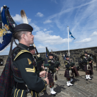 "Pipers of 4 SCOTS<br/><a href=""gallery/royal-visit-3-july-14/87/add/#comments""Add comment/a"