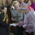 "The Queen meets holders of the Elizabeth Cross.  The Elizabeth Cross is a commemorative emblem given to the next of kin of members of the British Armed Forces killed in action or as a result of a terrorist attack after the Second World War<br/><a href=""gallery/royal-visit-3-july-14/105/add/#comments""Add comment/a"