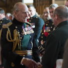 "The Duke of Edinburgh meets soldiers of The Highlanders, 4th Battalion The Royal Regiment of Scotland<br/><a href=""gallery/royal-visit-3-july-14/109/add/#comments""Add comment/a"